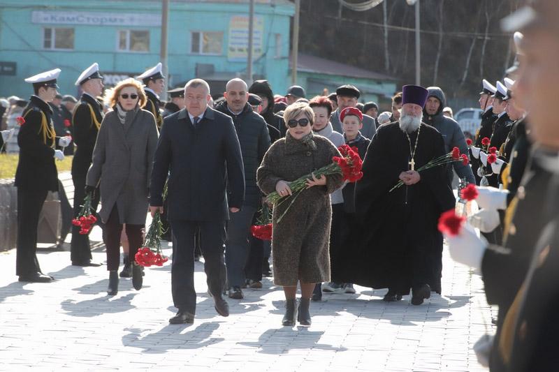 Ирина Унтилова на Дне памяти в центре Петропавловска-Камчатского