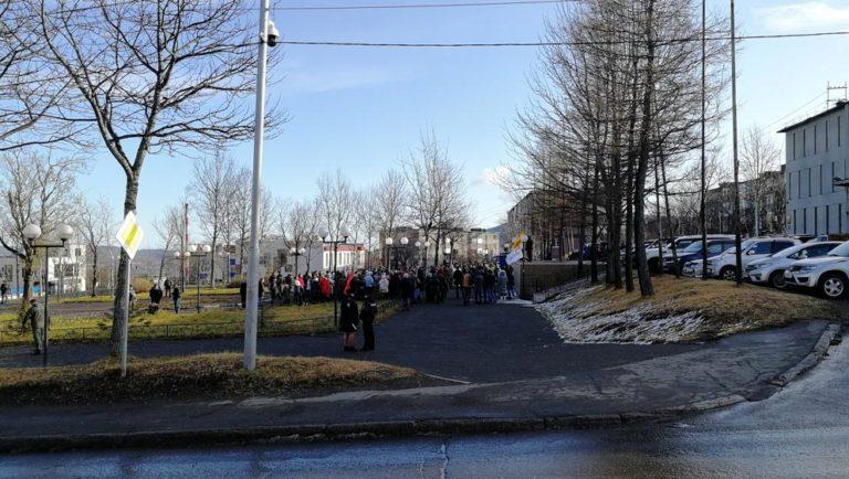 Участники митинга от Справедливой России втянули в конфликт правоохранителей