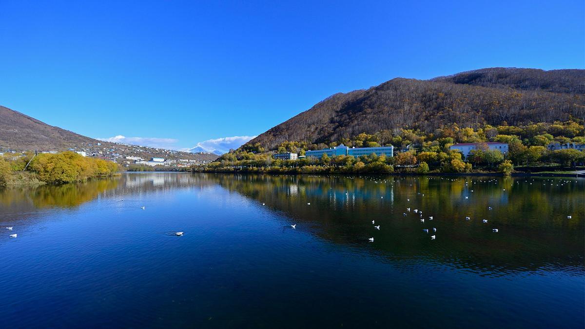 Култучное озеро в Петропавловске-Камчатском