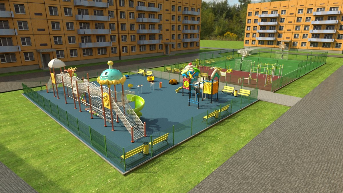 Новые детские площадки будут построены в 2020 году