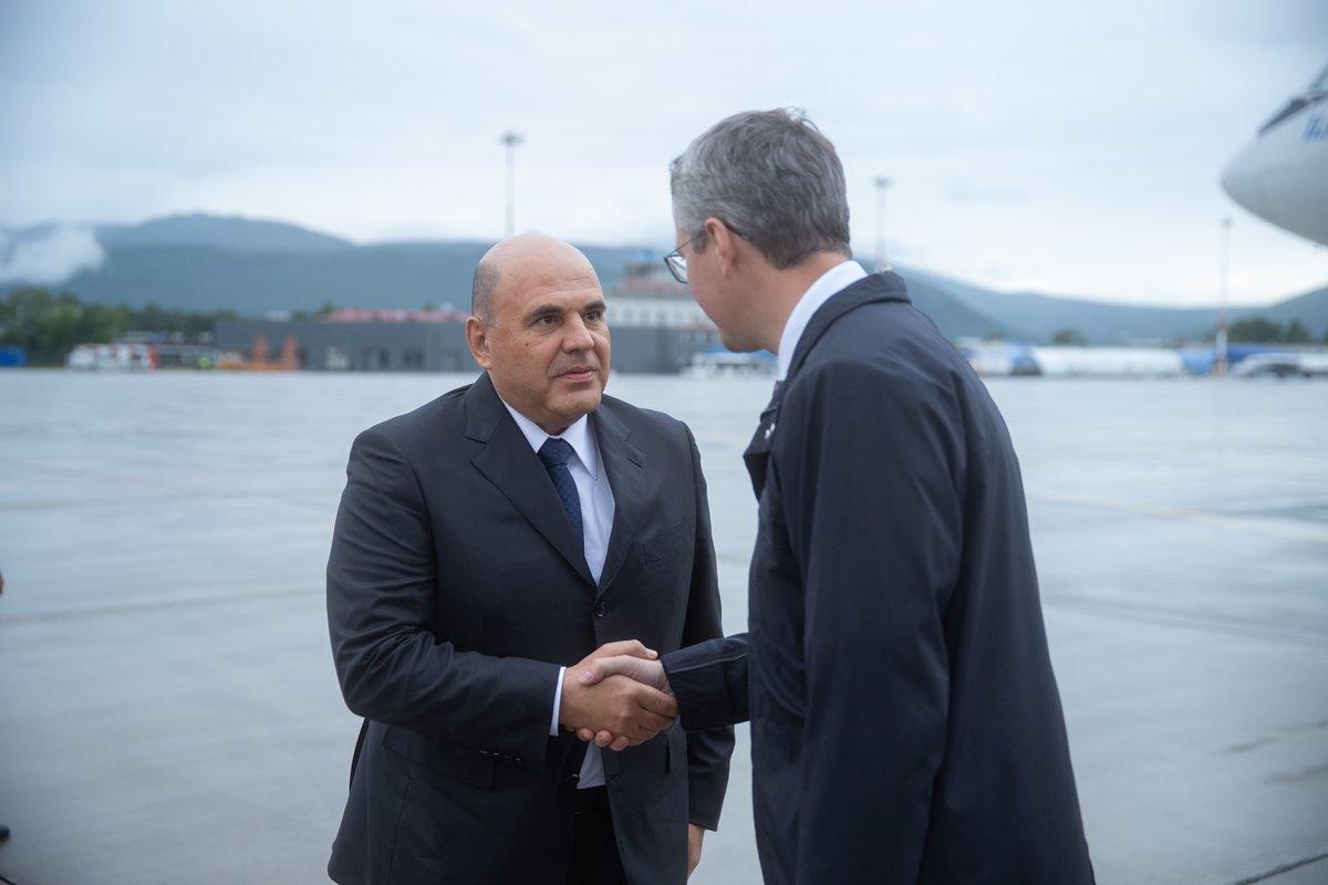 Председатель Правительства РФ Михаил Мишустин прибыл на Камчатку